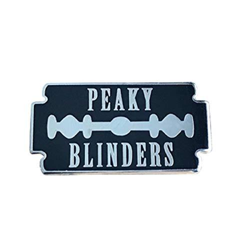 Peaky Blinders Broche en métal émail Badge Tommy Shelby Brothers Lame de rasoir