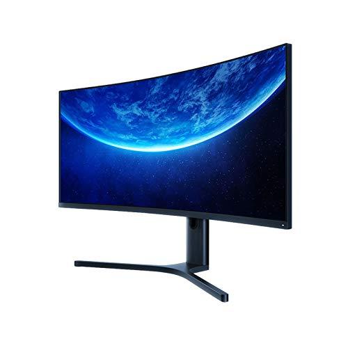 KDR 2K Rahmenloser Curved Gaming Monitor, LCD-Monitor, 144 Hz Hohe Bildwiederholfrequenz Niedriges Blaues Licht Full HD PC Monitor, 34 Zoll