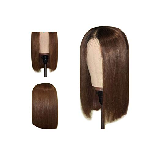 Short Human Bob Wigs 1B/30 Brazilian Remy Hair Wigs For Women Lace Front Human Hair Wigs Bleached Knots Pre Plucked Slove Vicky,12Inches