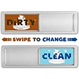 Clean Dirty Dishwasher Magnet With Slide Indicator - Non-Scratch - Double Sided Stickers Included for Non-Magnetic Surfaces - 7' x 2'