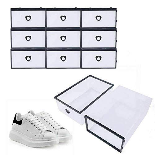 Fetcoi 20 cajas de zapatos transparentes de plástico, zapatero, 31 x 21 x 12 cm