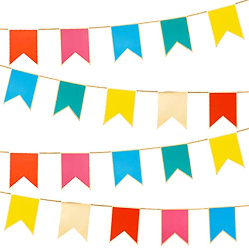 Talking Tables 3 Metres Rainbow Bright Garland Bunting Ideal Decorations for a Birthday or Pride Garden Party, RBBUNTING
