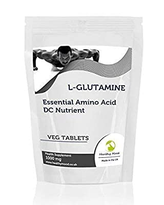 L-Glutamine 1000mg Essential Amino Acid 90 Vegetarian Tablets Pills Health Food Supplements Nutrition HEALTHY MOOD by Healthy Mood