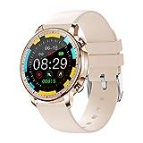 XYZK V23Women's Smartwatch Full Touch Screen Display Uomo Fitness Tracker Pedometro Pressione Sanguigna Monitor Frequenza Cardiaca Intelligente Promemoria Orologio Uomo Donna per Android IOS, D (A)