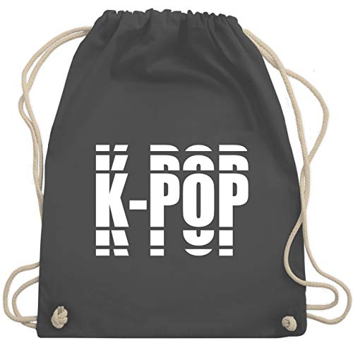 Shirtracer Festival Turnbeutel - K-pop in Grafischem Muster - Unisize - Dunkelgrau - grafisch - WM110 - Turnbeutel und Stoffbeutel aus Baumwolle