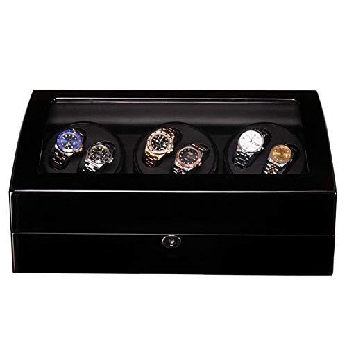 alvyu Holz Uhrenbeweger Aufbewahrungsbehälter, Quiet Motor, 6 + 7 Uhren Display Box