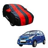 Autofurnish Red Stripe Car Body Cover Compatible with Hyundai Eon - Arc Blue