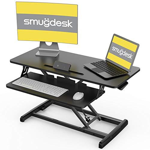 Standing Desk, Sit Stand Up Desk Height Adjustable Table 32 inch Standing Desk Converter, Ergonomic Tabletop Workstation Desk Riser, Home Office Desk with Keyboard Tray for Laptop