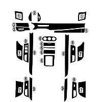 カースタイリング3D5Dカーボンファイバーカーインテリアセンターコンソールカラーチェンジモールディングステッカーデカール 三菱ランサーEX2009-2016の場合