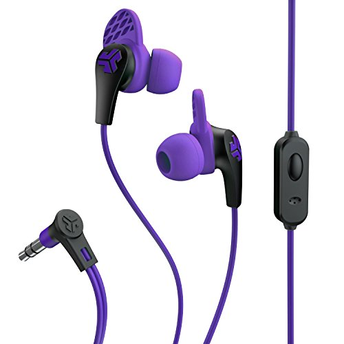 JLab Audio JBudsPRO Premium in-Ear Earbuds with Mic, Guaranteed Fit, Guaranteed for Life - Purple