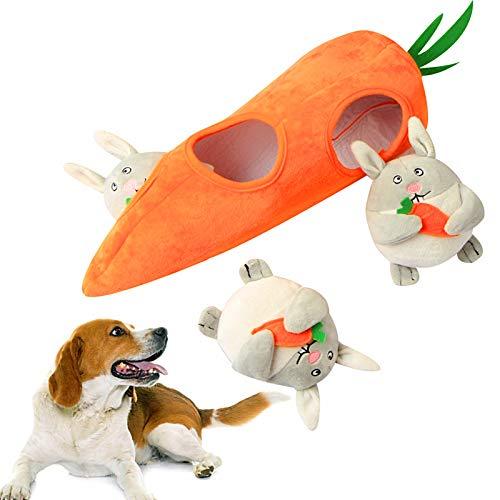 JUNCHUANG Juguete chirriante del Perro, Juguete Interactivo del Rompecabezas del Juguete del Juguete del Masticar del Juguete de la Felpa del Perro
