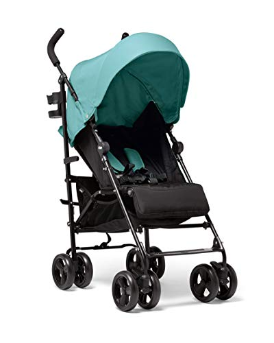Mamas & Papas Cruise Practical Folding Pushchair Buggy with Front Suspension Wheels, Adjustable Lie Flat Seat and Large Protective Hood - Duck Egg