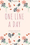 One Line A Day a Five-year Memory Journal for Busy Moms: Relaxing Theme Blank Diary for Daily Reflections Keepsake Book Best Holiday Birthday And New Year Gift Idea