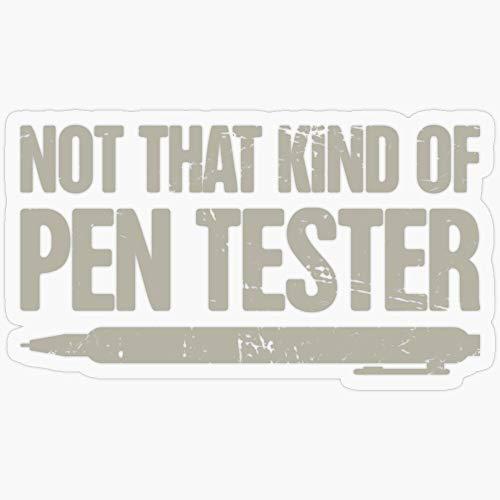 Lplpol Vinyl-Aufkleber – Distressed Pen Tester/Security Penetration Test – Lustiger Aufkleber für Laptop, Telefon, Autos, Wasserflaschen 14 cm