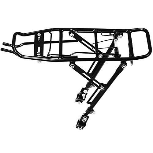 Portabultos Bicicleta Bicicletas al portaequipajes de carga estantes de aluminio Max 25kg Ciclismo Tija de sillín Bolsa sostenedor del soporte de 3Pivot Con la ayuda Portaequipajes Para Bicicletas