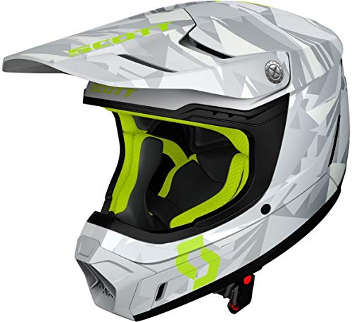 Scott 350 EVO Camo ECE Casque de motocross Gris/Jaune S (55/56)