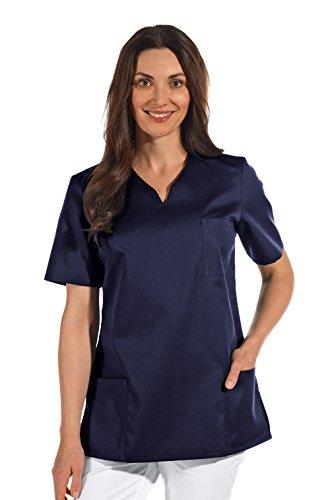 clinicfashion 12612049 Schlupfhemd dunkelblau für Damen, Mischgewebe, Größe XXL