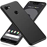 Peakally Coque Google Pixel 3 XL, Etui Souple Flexible en Premium TPU Noir Case Cover pour Google Pixel 3 XL Slim Housse de...