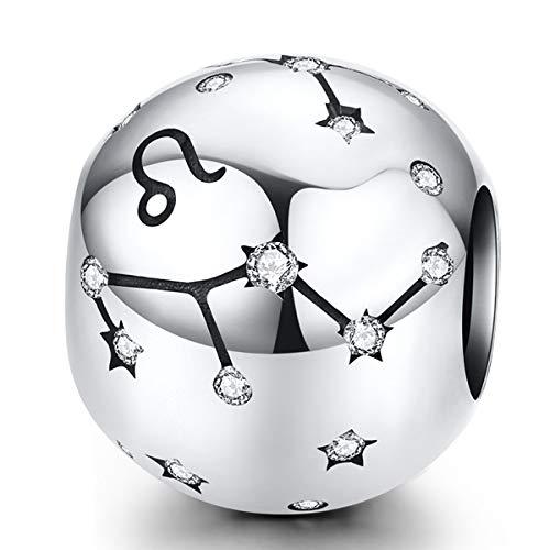ZiFouDou Abalorio para Pulsera Pandora&Chamilia,Abalorio de Plata de Ley 925,Originales Bead Charm...