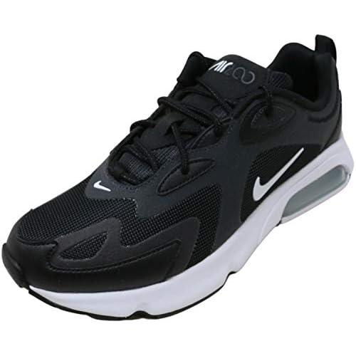 Nike Air Max 200 Men's Shoe, Scarpe da Corsa Uomo, Black/White-off Noir-Metallic Silver, 42 EU
