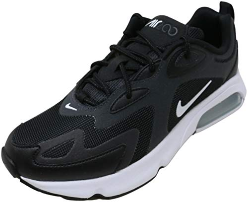 Nike Herren AIR MAX 200 Running Shoe, Black/White-Off Noir-Metallic Silver, 44 EU