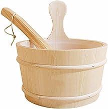 Seau de sauna avec louche, accessoires de sauna pour salle à vapeur, seau de sauna, louche, doublure en plastique, fournit...
