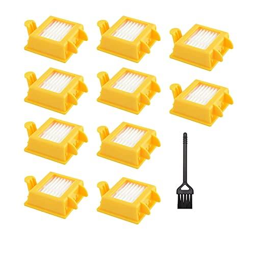 HUAZHUANG-Home Juego Completo 10 unids Accesorios Fit para Irobot Roomba 7 Series 700 720 730 750 760 770 775 780 790 Robot Cepillo de aspiradora + Filtro (Color : 10 Filters)