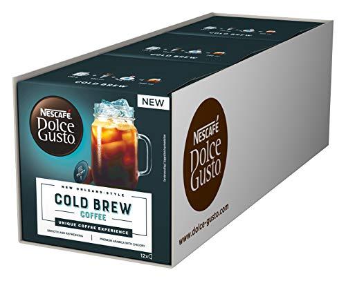 NESCAFÉ Dolce Gusto Cold Brew, 36 Kaffeekapseln für 36 Gläser, Kaltgetränk, 3er Pack (3 x 12 Kapseln)