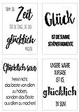 Edition Seidel Set 4 Premium Poster mit Sprüchen (Format