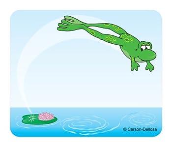 Carson Dellosa Frog Name Tags  9424