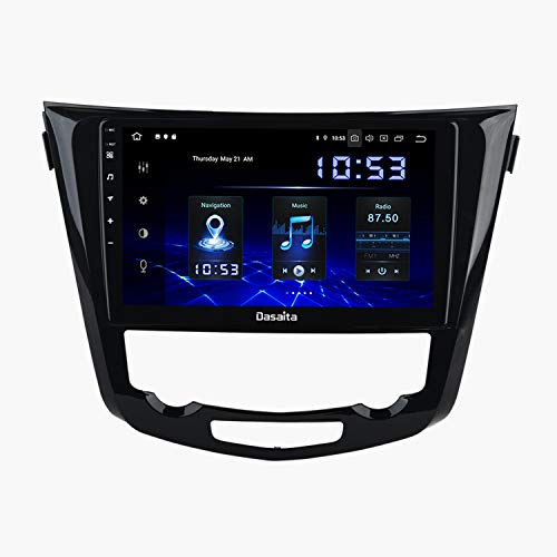 "Dasaita 10.2"" Android 10.0 Carplay Autoradio mit Navi für Nissan X-Trail Qashqai J11 2014-2018 Autoradio Bluetooth Touchscreen Unterstützung Android Auto WLAN DAB+ Carplay USB Rückfahrkamera"