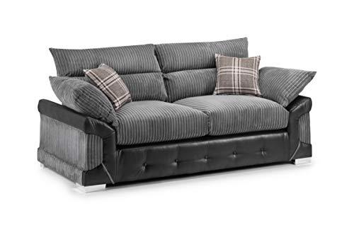 Honeypot - Logan - 3 Seater - 2 Seater - Corner Sofa - Black - Jumbo cord (3 Seater)