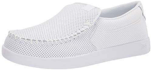 DC Men's Villain Casual Slip On Skate Shoe, White, 11 D M US