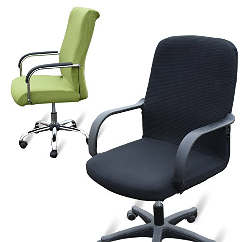Beyonder Modern Simplism Style Office Computer Chair Covers Universal Stretch Spandex Removable Desk Chair Rotating Chair Cover Protector Seat L Black Buy Online In India At Desertcart In Productid 48570687