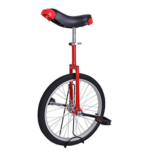 imusicat 20 Inch Unicycles for Adults Kids - [ Strong Manganese Steel Frame ], Unicycles, Uni Cycle, One Wheel Bike for Adults Kids Men Teens Boy Rider, Mountain Outdoor (Red)