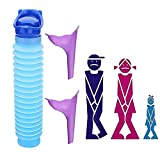 3 Stück Notfall-Urinflasche Urinflasche Trichter, Wiederverwendbare Schrumpfbare,Tragbare Camping-Toilette Urinal Trichter Urinflasche für Auto, Reisen, Stau und Warteschlangen