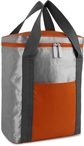 Petit sac isotherme pliable et isotherme en nylon robuste - Volume : 16 l - Couleur : orange
