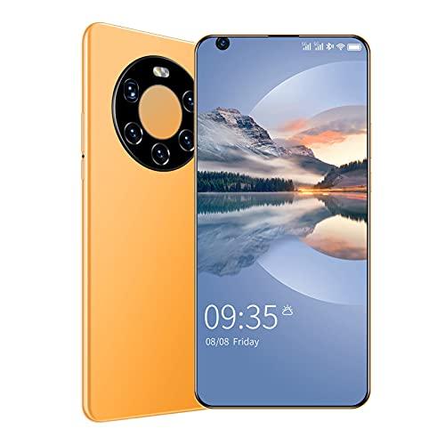 Teléfono móvil Mate41Pro +, 4GB + 64GB, Pantalla HD de 6.7 Pulgadas, 13MP + 24MP, Smartphone 4G con SIM Dual, Desbloqueo Facial con Huella Digital Android 9.0,Amarillo