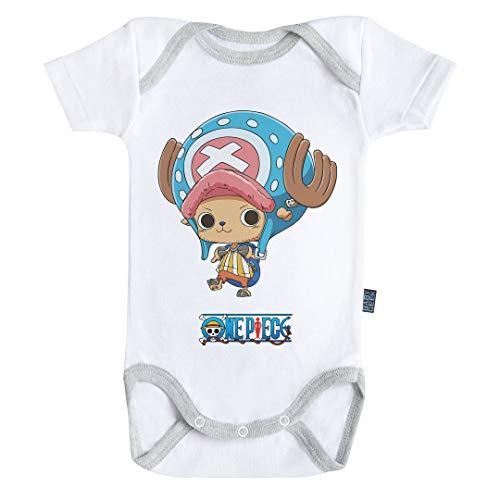 Baby Geek Chopper – One Piece TM – Offizielles Lizenzprodukt – Baby Body Kurzarm Gr. 86, weiß