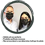 Immagine 1 mascherina chirurgica nera 3 strati