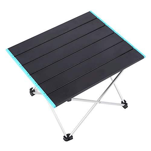 Mesa de acampamento dobrável Mesa de piquenique portátil de alumínio leve 16.1x13.7x11.6in Mesa antiderrapante Mesa resistente à ferrugem para mochila ao ar livre Camping RV Viagem