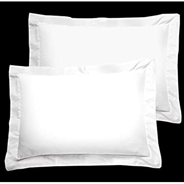 American Pillowcase Luxury Egyptian Cotton 300 Thread Count 2-Piece Pillow Sham Set 21 x 26 Inch - Standard, White