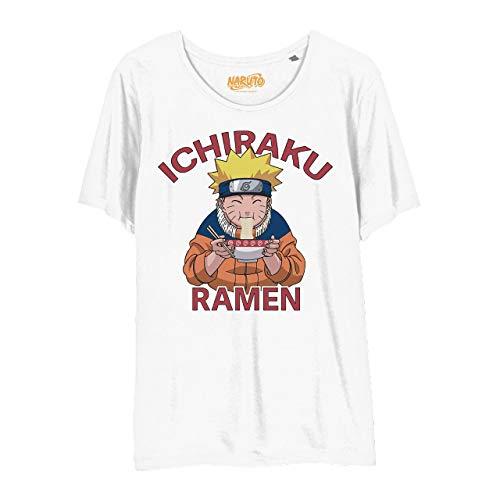 Naruto Camiseta Mujer Ichiraku Ramen algodón Blanco - L