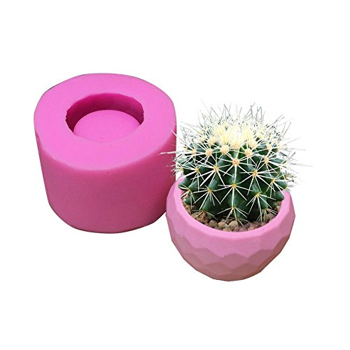 Stampo in silicone per 3D vaso di fiori pianta succulenta, cemento gesso pianta carnosa vaso di fiori Stampo in silicone bonsai, fai da te poliedro cactus Muti-carne fioriera muffa