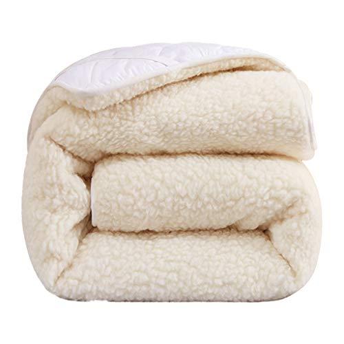 GGGDRT Wolle Matratze, Einzel- und Doppelmatratze, Verdickte Thermo-Decke, Weich und Atmungsaktiv, Familien-Schlafzimmer-Bettwäsche (größe : 180 * 200CM)