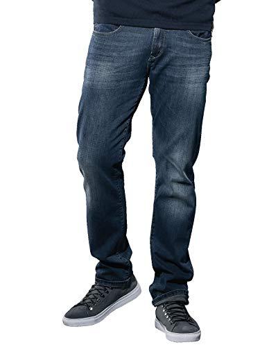 emilio adani Herren Super Soft Touch Jeans, 30923, Blau in Größe 36/32