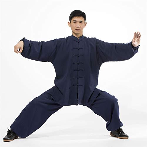 LINFENG Bordado Tai Chi Ropa Marcial Letras Práctica Ropa Manga Larga Mañana Ejercicios Tai Chi Chino Kung fu Espiga Traje Yoga Exterior (Color : Black, Size : X-Small)