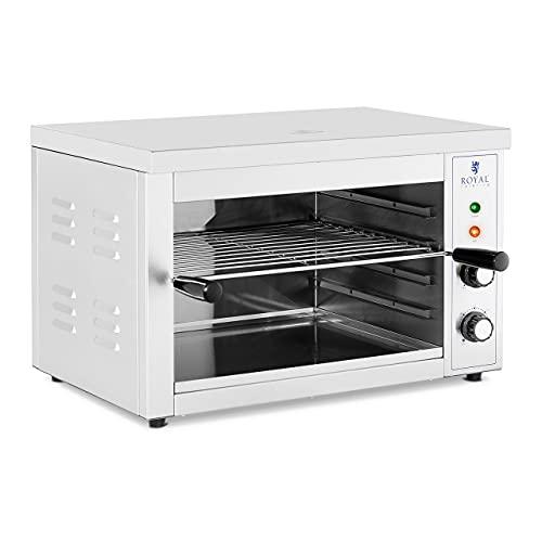 Royal Catering Horno Salamandra para Hostelería Tostador RCPES-380 (Potencia: 3.000 W, Temperatura: 50 - 300 °C, Acero inoxidable)