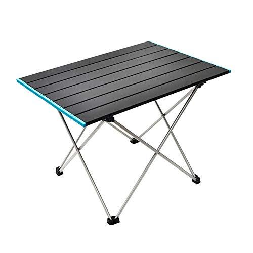 Generice Ultraleichter Aluminium-Klapptisch im Freien Camping tragbarer Grilltisch Selbstfahrende Angelfreizeitmöbel Innen- und Außenpicknick-Esstisch Grilltisch mit Griff (56 * 40,5 * 40CM)