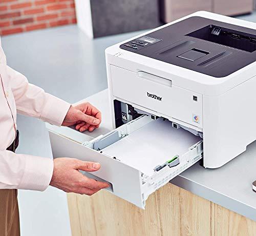 Brother HL-L3230CDW - Impresora láser color (WiFi, LED, USB 2.0, 256 MB, 800 MHz, 18 ppm, 390 W) blanco, A4
